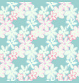 floral seamless pattern with outline daisy vector image vector image