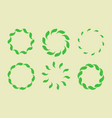 frame leaf circle leaves organic green vector image