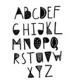 funny childish made with ink alphabet vector image vector image