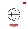 globe icon world sign vector image vector image