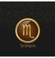 Golden Scorpio sign vector image vector image