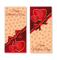 happy mothers day cards set flyer template vector image