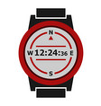 hiking watches icon vector image