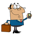 Hispanic Businessman Holding A Briefcase vector image vector image
