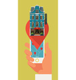 Hotel on a Pin vector image