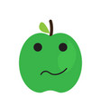 isolated sad apple emote vector image