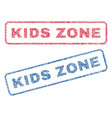 kids zone textile stamps vector image vector image