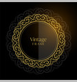 luxury vintage circular frame background vector image vector image