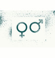 Male and female gender grunge splash style signs