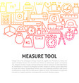 measure tool line concept vector image