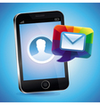 mobile phone with touchscreen vector image vector image