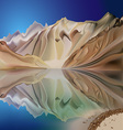 Mountain landscape reflection vector image