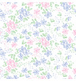 naive sketch meadow flowers seamless pattern vector image vector image
