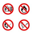 No smoking No open flame no matches no lift vector image vector image