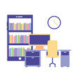 office workplace equipment vector image vector image