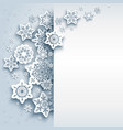 paper snowflakes winter vector image