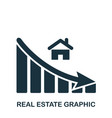 real estate decrease graphic icon mobile app vector image