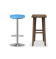 realistic detailed 3d bar stools set vector image vector image