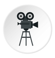 Retro film camera icon flat style vector image vector image