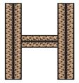 Rimsko H resize vector image vector image