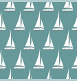 seamless pattern summer sailboat vector image