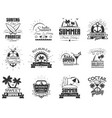 set of summer season labels in vintage vector image vector image