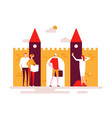 sightseeing tour - colorful flat design style vector image