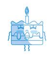 silhouette kawaii cute happy cake dessert vector image