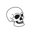 skull isolated on white background design element vector image vector image