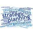 strategy text cloud vector image vector image