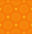 sun pattern seamless hand drawn yellow sunshine vector image