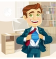 Super business man in office vector image