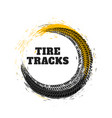 tire track in circle style vector image vector image