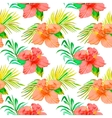 Tropical pattern Hibiscus monstera leaf palm vector image vector image