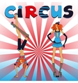 Two thin circus girls vector image vector image