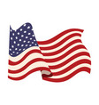 united states of america flag waving symbol vector image vector image