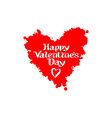 Valentines heart day lettering vector image vector image