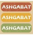 Vintage Ashgabat stamp set vector image vector image