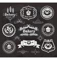 Vintage bakery frames vector image