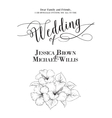 Wedding template vector image vector image