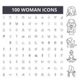 woman line icons signs set outline vector image vector image
