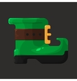 Boots of leprechaun for St Patricks Day icon vector image