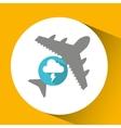 plane travel weather forecast lightning cloud vector image