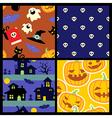 Happy Halloween pattern vector image