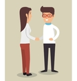 man and woman office team vector image