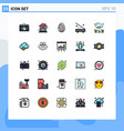 25 creative icons modern signs and symbols of vector image vector image