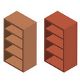 3d design for wooden shelves vector image vector image