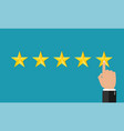 5 stars customer and management result vector image vector image