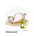 a series of postcards with a piglet proverbs and vector image
