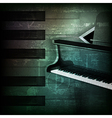 abstract dark green grunge background with grand vector image vector image
